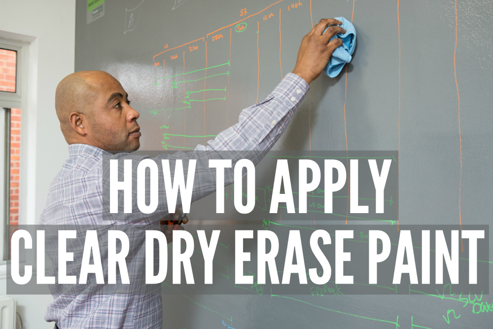 How to apply Clear Dry Erase Paint | Smarter Surfaces