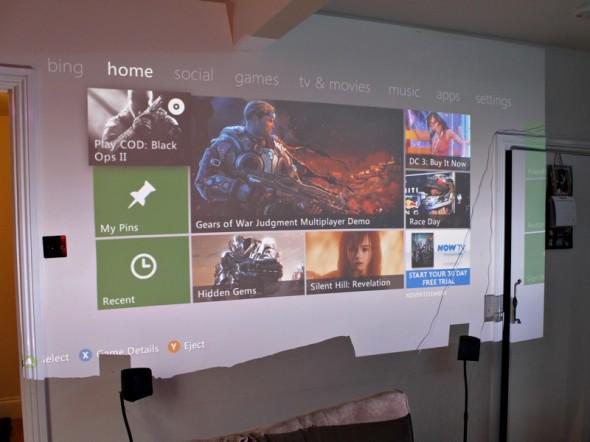 Desktop-projector-wall