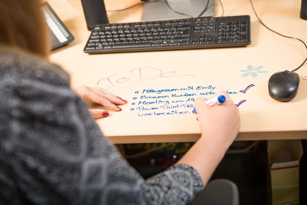 whiteboard paint clear writable desk to do list office nathalie