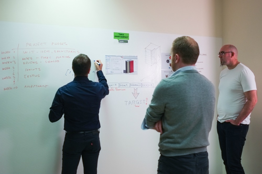 Whiteboard Magnetic FenestraPro architects customer collaboration 5