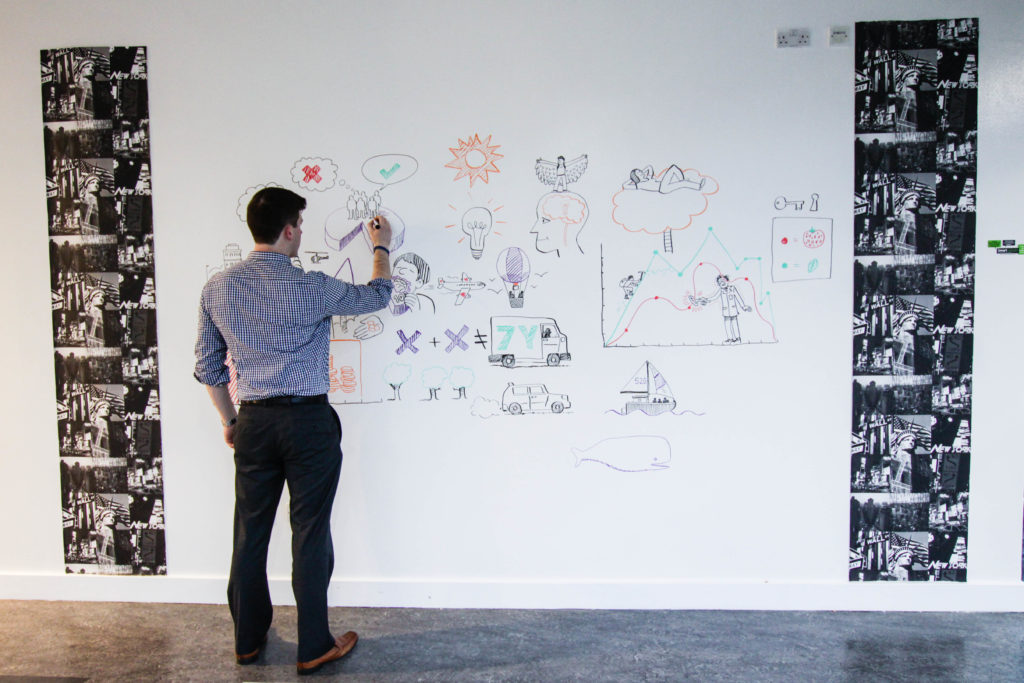 man-using-smarter-surfaces-whiteboard-wall