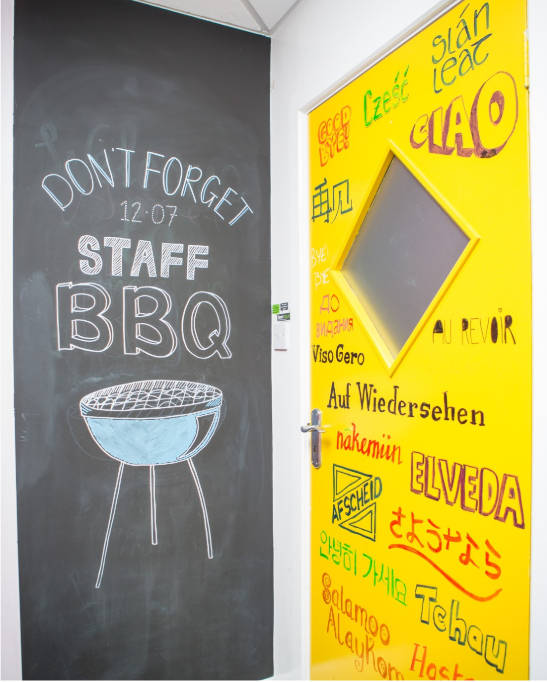 Smarter Surfaces Whiteboard Door and Chalkboard Wall