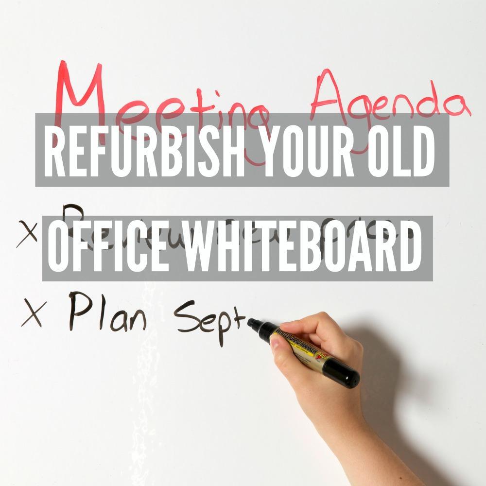 Meeting agenda written on Smart Whiteboard surface