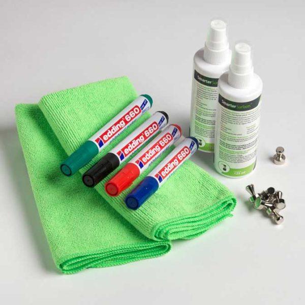 Smarter Surfaces Magnetic Whiteboard User Kit