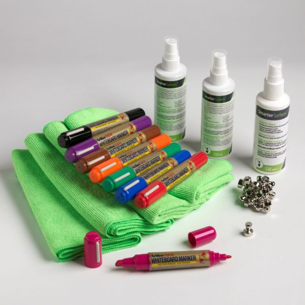 smarter surfaces magnetic user kit including accessories for magnetic whiteboards