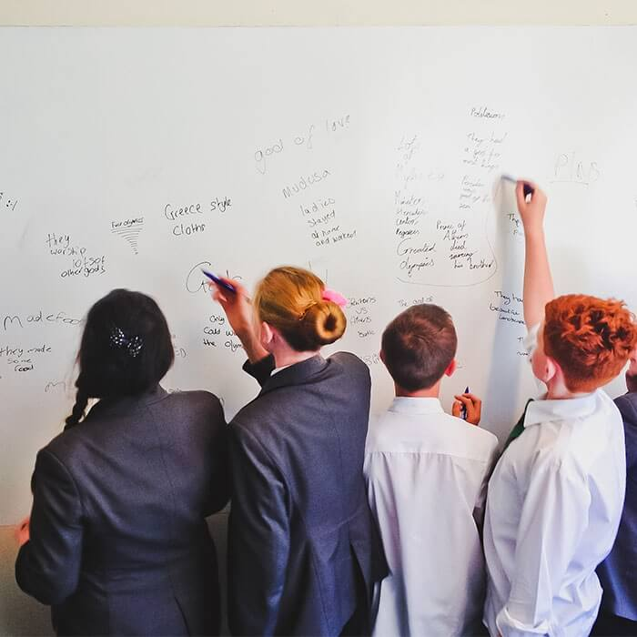product 4 4 smart wall paint being used in education