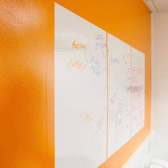 product 5 5 smart whiteboard sheets on wall
