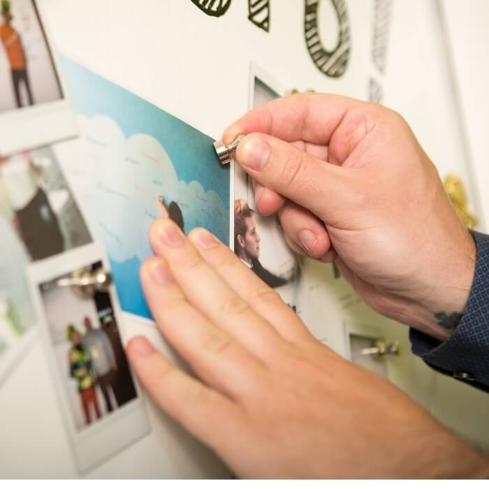 product c u customer wall created with magnetic plaster