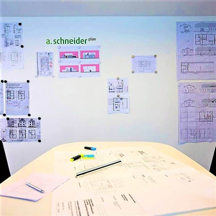 product m a magnetic wall in office created with smart magnetic plaster