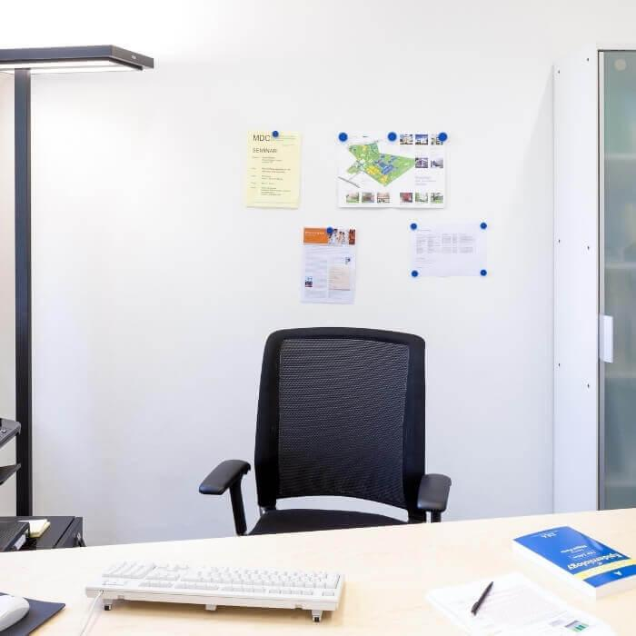 product m a magnetic wall in white office