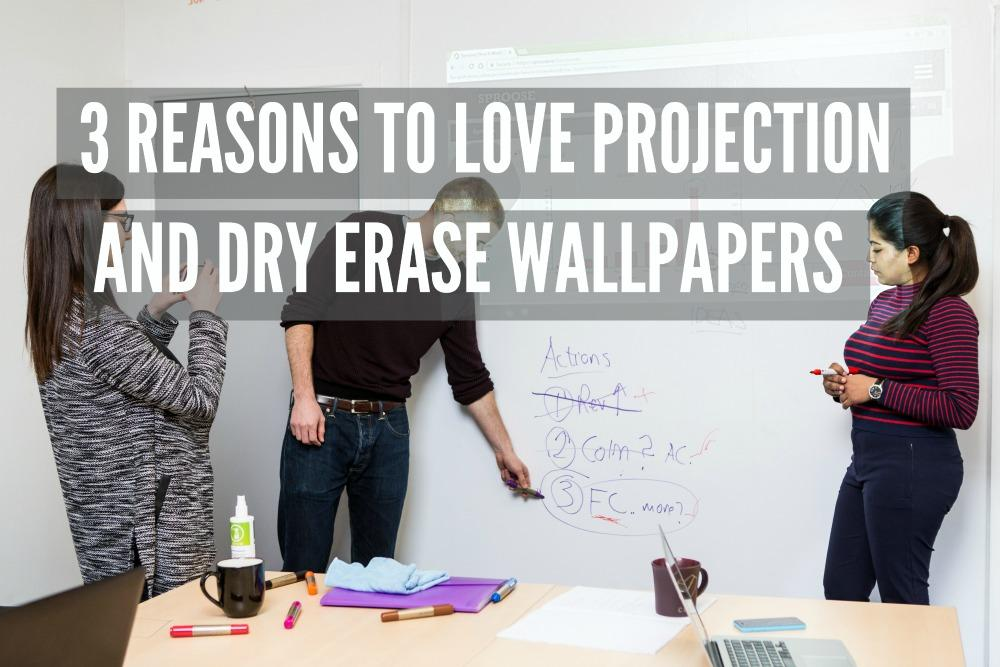 projection and dry erase wallpapers Smarter Surfaces Smart Projector Wallcovering Sproose Customer Business 50