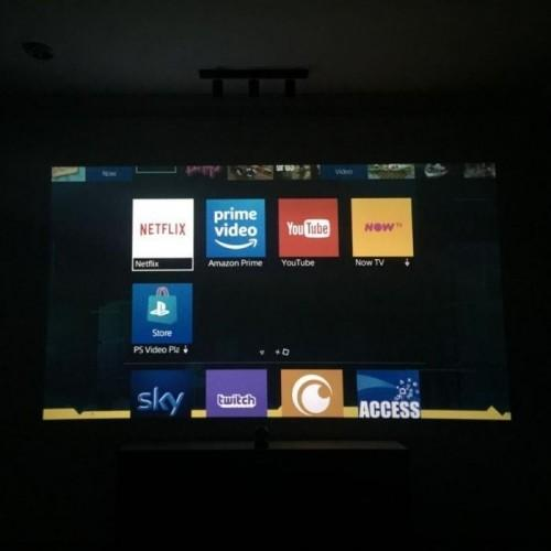 home theatre screen created with Smart Projector Paint Contrast