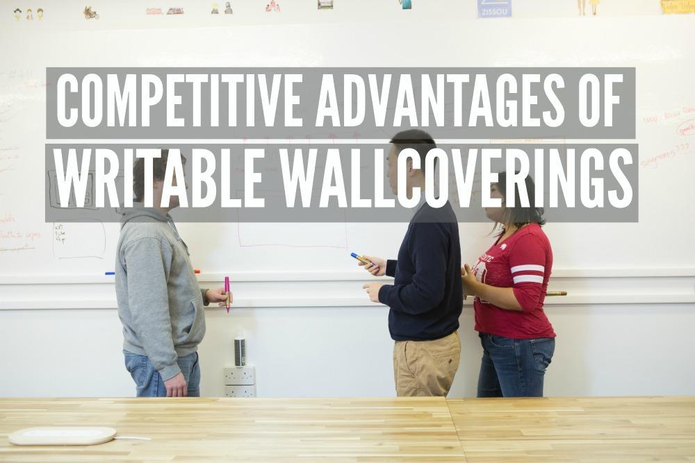 whiteboard wallcovering business office commercial white writable