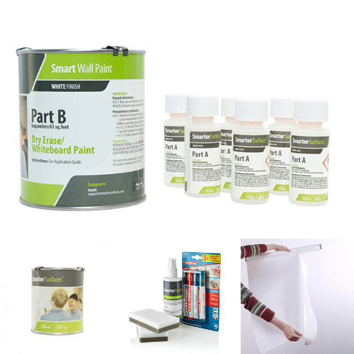 whiteboard paint white bundle home office