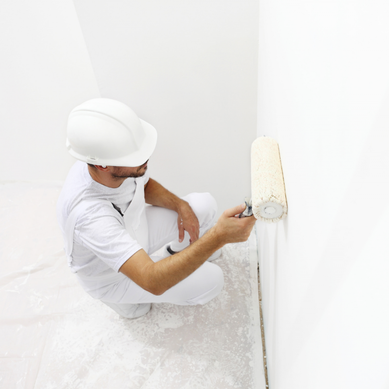 Smart-Antimicrobial-whiteboard-paint-being-applied