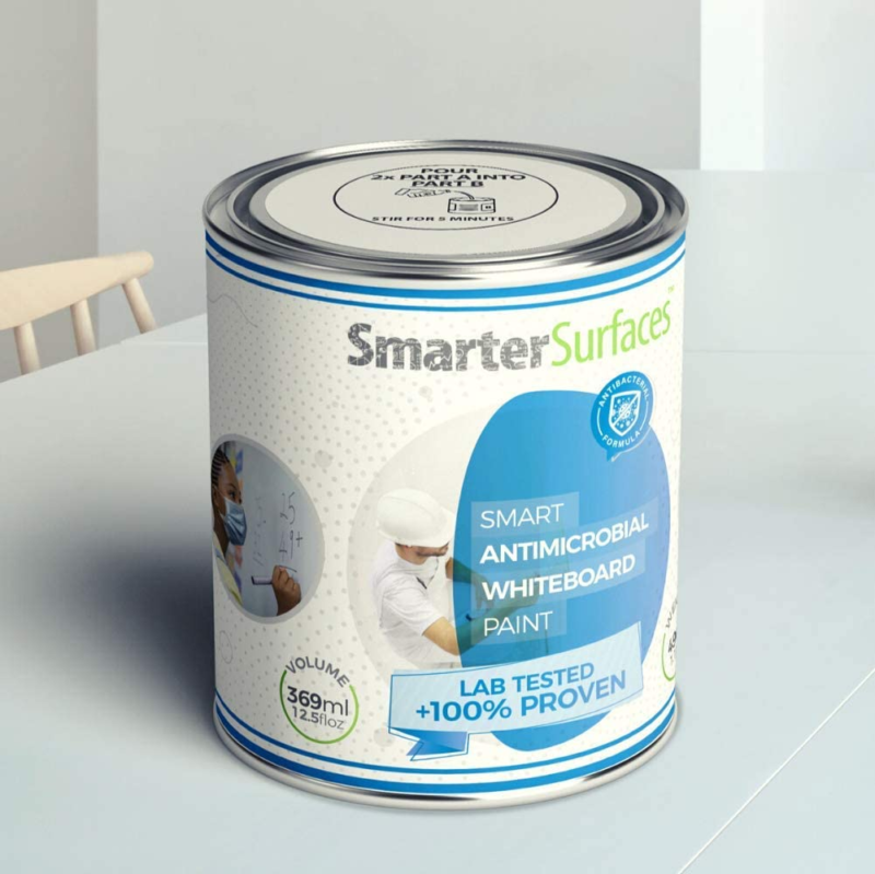 Smart Antimicrobial Whiteboard Paint