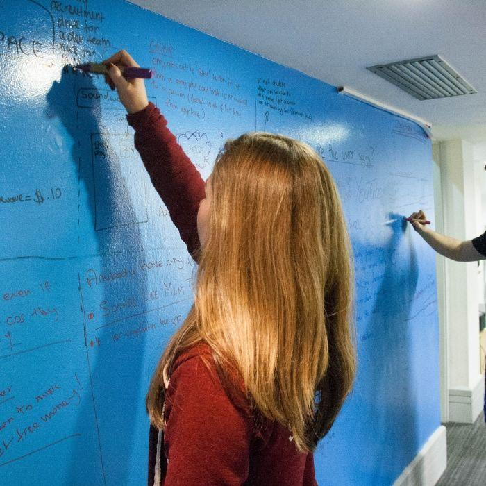 buy dry erase paint to create writable walls blog